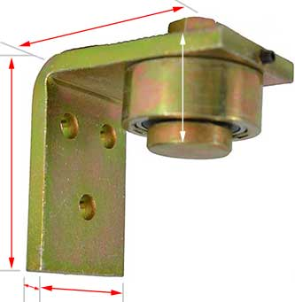 Heavy duty bearing hinge for a Heavy Gate