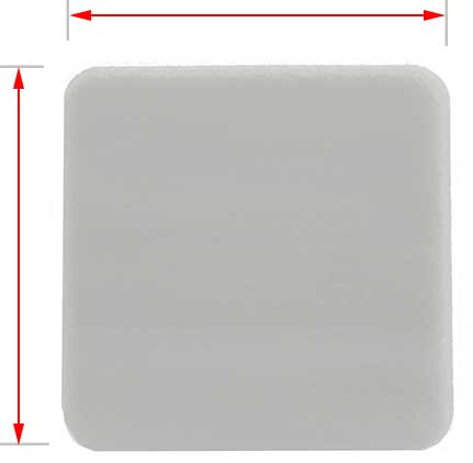 20x20mm white plastic cap