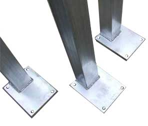DIY Steel post with base plates welded to them