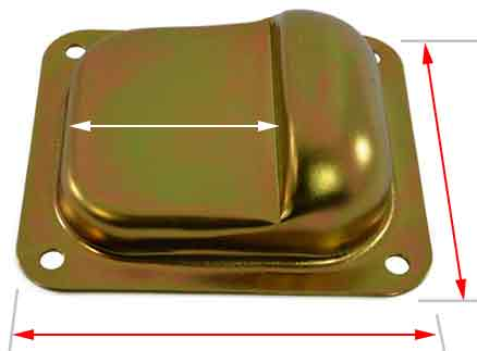 top view of the gate stopper BK950