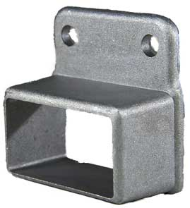 Aluminium Fence Rail Brackets 50x25 mm Single Lug