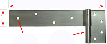 heavy duty strap hinges for timber gates