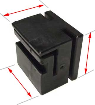 black sliding block