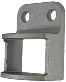 Aluminium Fence Rail Brackets 38x25 mm Single Lug two holes