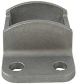 Aluminium Fence Rail Brackets 38x25 mm Single Lug