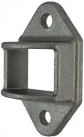 uminium Fence Rail Brackets 38x25 mm Double Lugs two holes