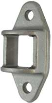 Aluminium Fence Rail Brackets 40x40 mm Double Lugs