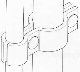 drawing of the cattle yard hinge