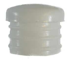 white plastic cap 18mm