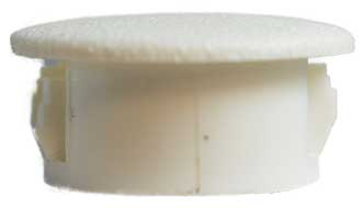 Plastic Cap 16 mm Flat Top White