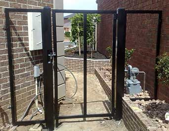 Gate Frame powder coated satin Black