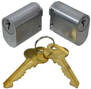 euro half barrel key cylinders