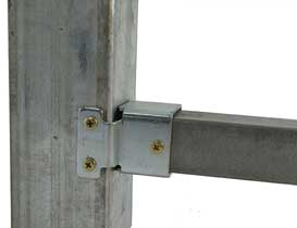 fixed security fencing bracket to a post