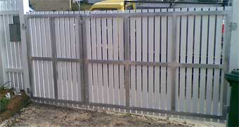 Great job of a steel gate frame