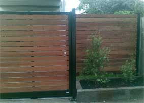 Diy Sliding gate with a DIY Fence panel