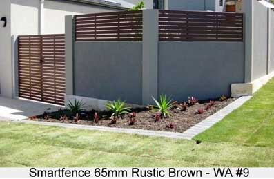smartfence in rustic brown