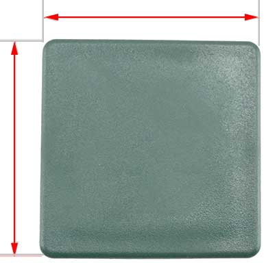 60x60mm green plastic cap