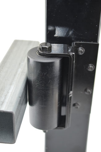 large guide roller with bracket