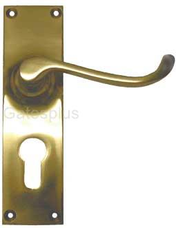 Lever Handle Set satin brass