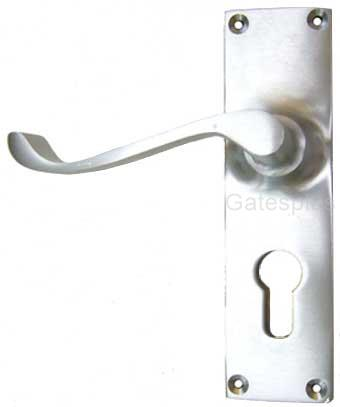 Lever Handle Set satin chrome