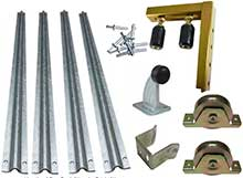 Sliding gate kit with 90mm wheels