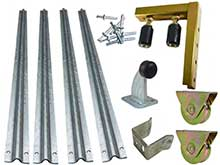 Sliding gate kit with parts