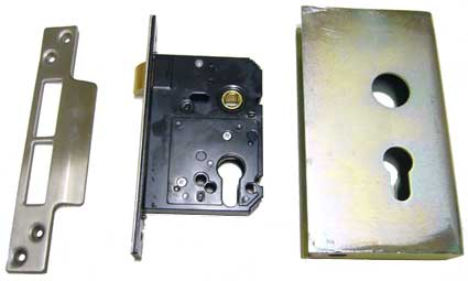 Mortise lock with a lockbox