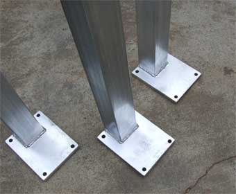 Post with Plates welded for free Standing