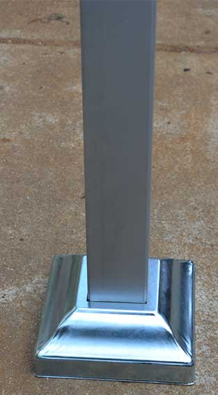 steel post base cover 50x50mm