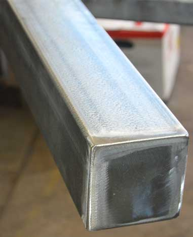 weld cap plate on a post