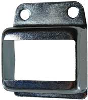 Steel Fence Rail Brackets 25x50mm Single Lug
