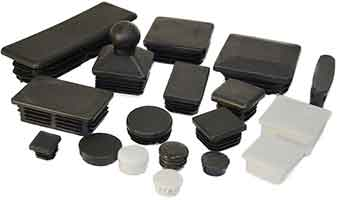 range of plastic caps