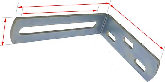bracket to hold guide roller for gates