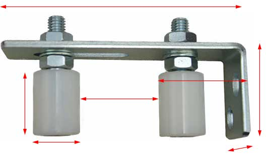 sliding gate holder with rollers