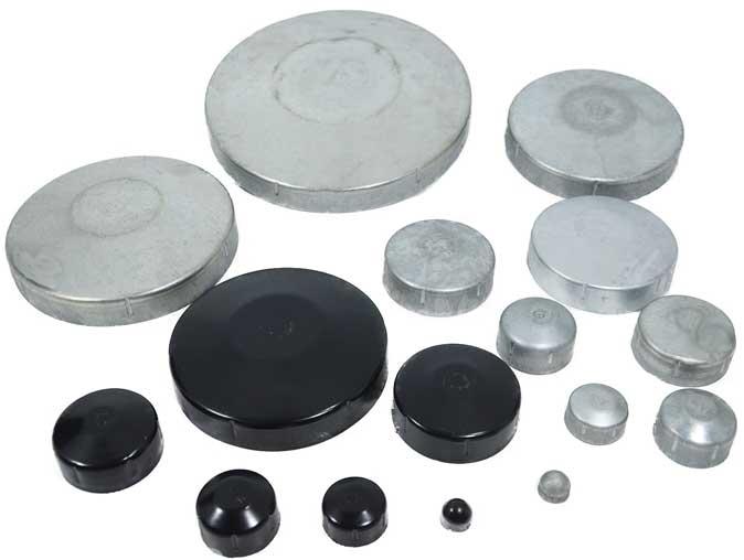 Galvanized round end caps