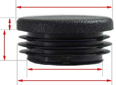 Plastic round cap 100mm black