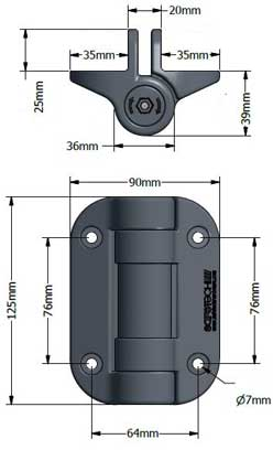 specifications of the safetech hinge