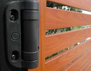 hinge fitted to a gate