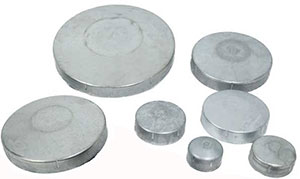 a selection of Steel round caps