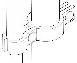 outline drawing of the sheep yard hinge