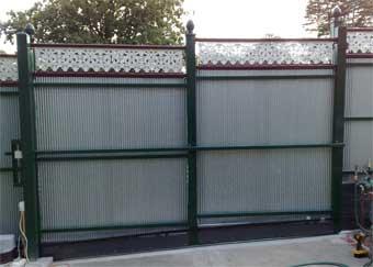 how to build a colorbond sliding gate