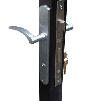 slim line mortise gate lock
