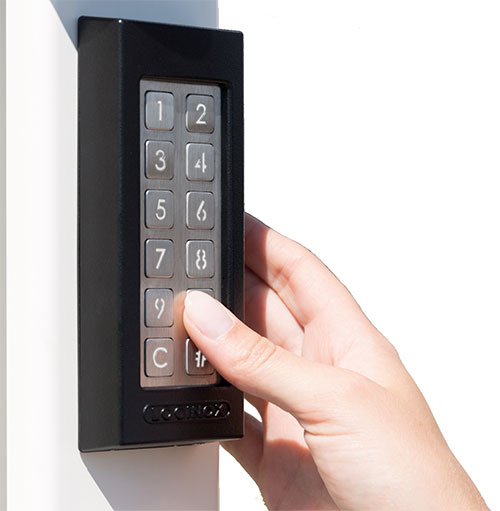 using a slimstone keypad