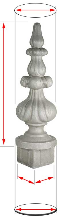 Aluminium Post finials for post
