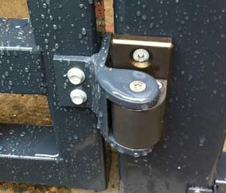 Added flange to gate closers