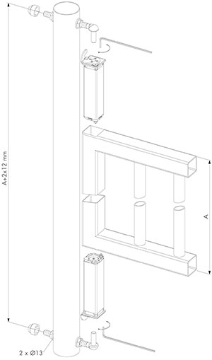 dimensions of the swing40 spring hinge