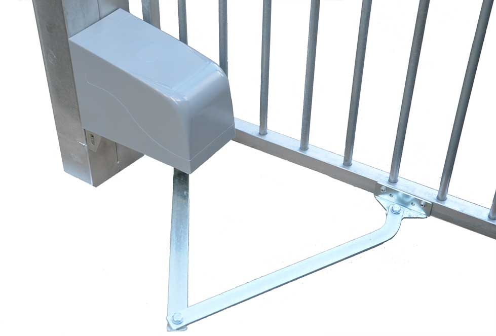 12v swing gate motors swing gate openers swing gate motor installed on a gate cheapraybanclubmaster Choice Image