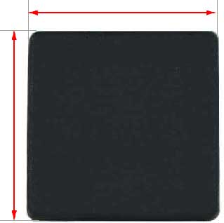 50x50mm black plastic cap