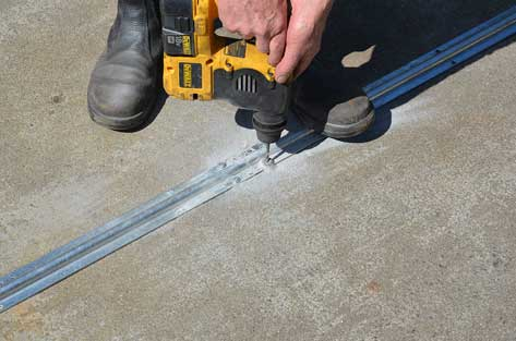 How To Lay Floor Track For A Sliding Gate