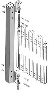 How to install a self closing hinge